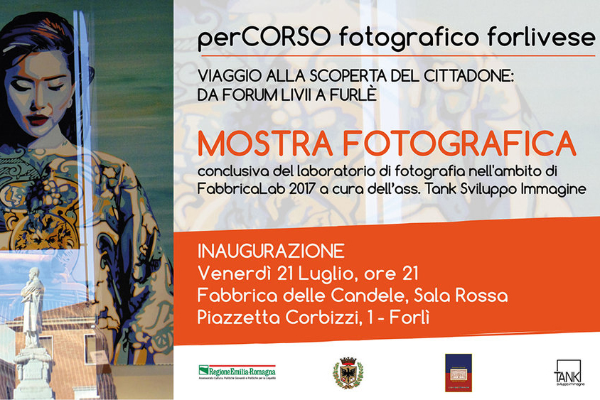 """perCORSO Fotografico - WORKSHOP DI FOTOGRAFIA.Forlì (FC), dal 23 maggio al 27 giugno 2017.6 Lezioni teoriche + 2 Lezioni pratiche.Organizzato da """"Tank"""" (FabbricaLab 2017)."""