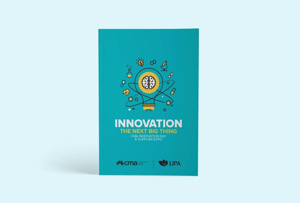 Event branding design - CMA booklet