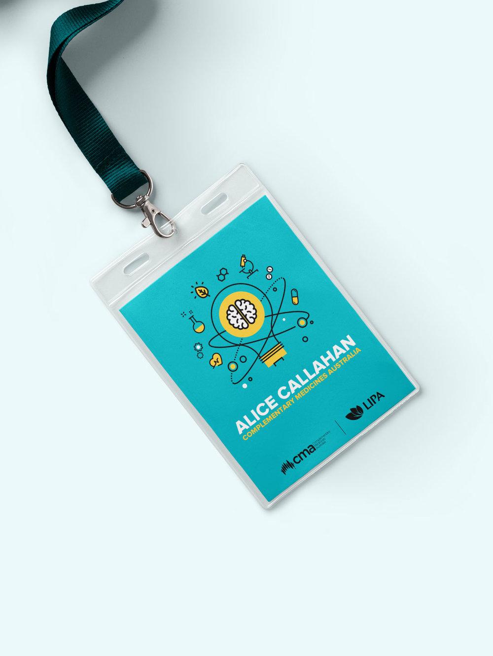 Event branding design - CMA Name tag