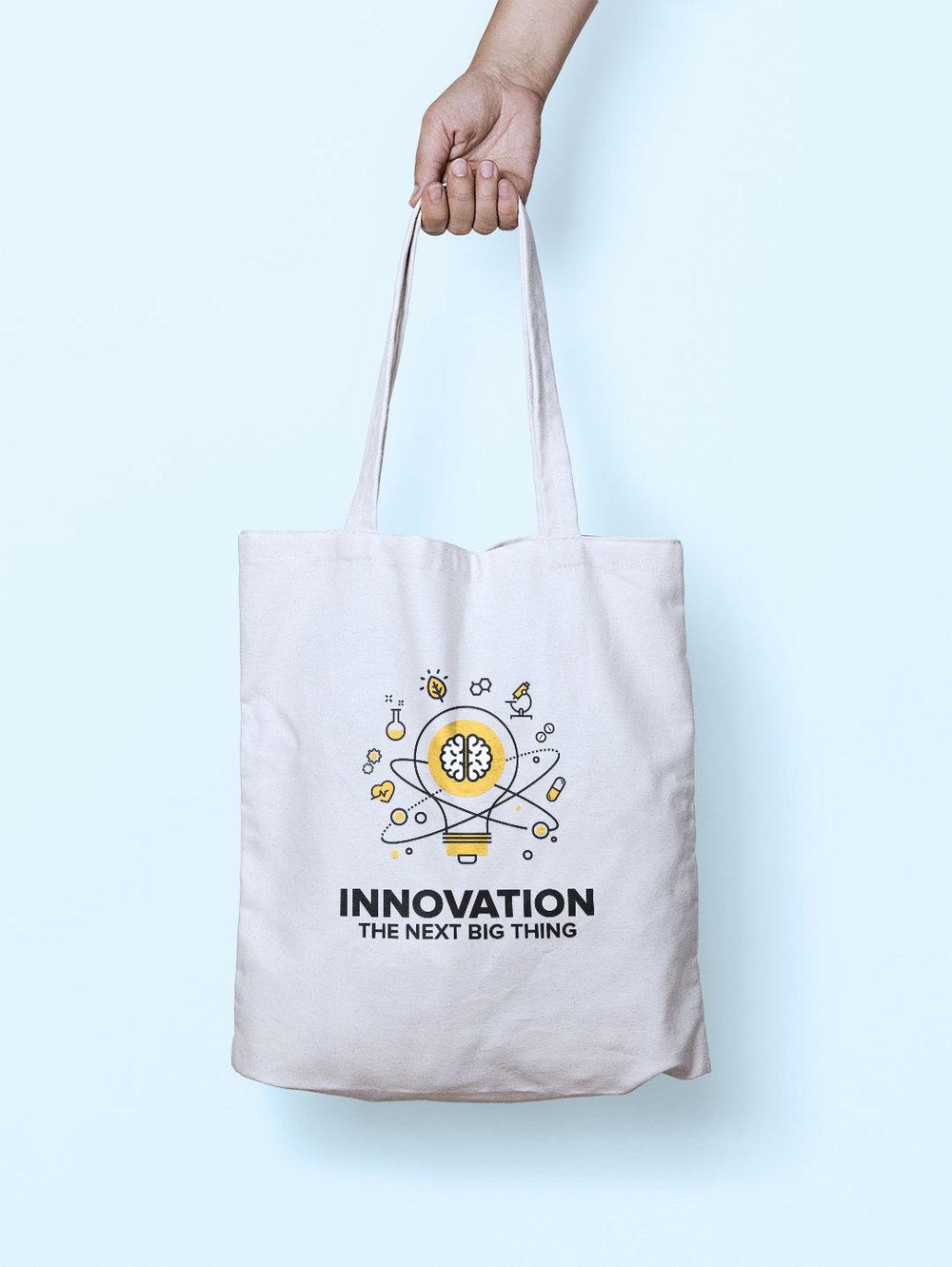 Innovation | Tote bag graphic design Manly, Sydney