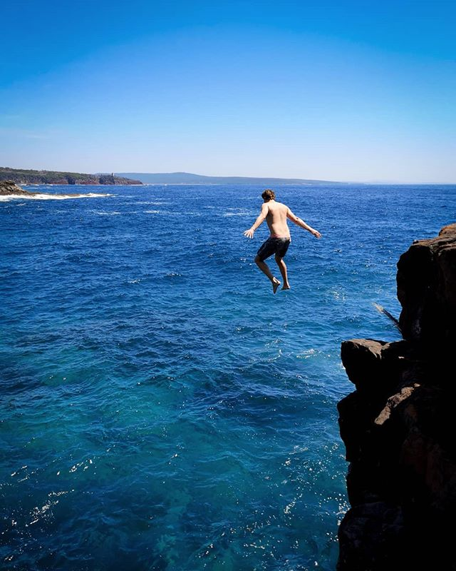 Found a new rock jump today in Ben Boyd National Park. #jumprock #sapphirecoast #discovernsw #nswnationalparks #weareexplorers
