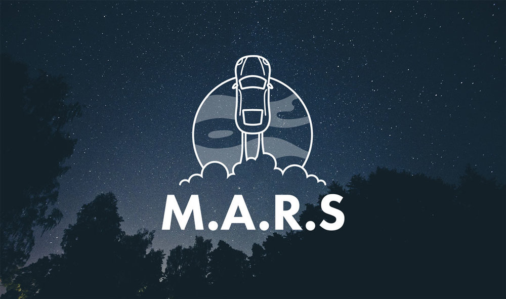 M.A.R.S Space themed logo design.