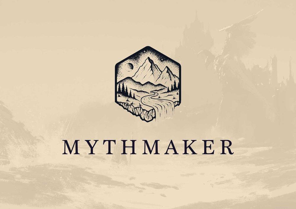 Mythmaker dark version of the logo design
