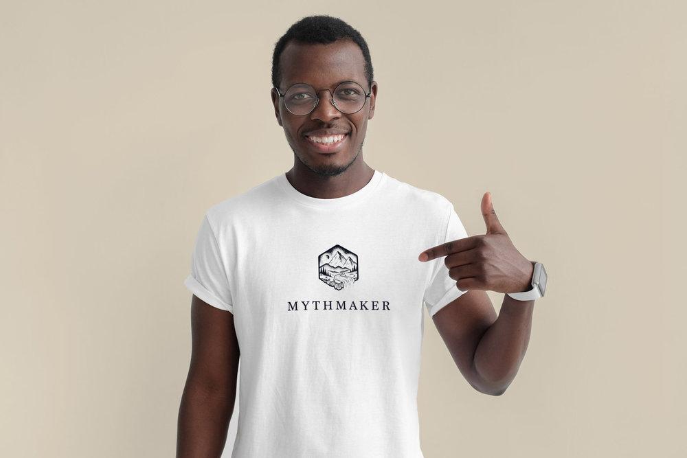 Mythmaker white t-shirt