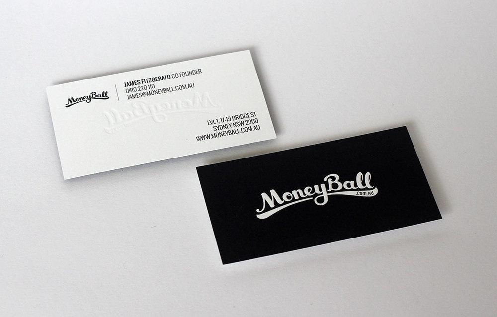 Moneyball business card design