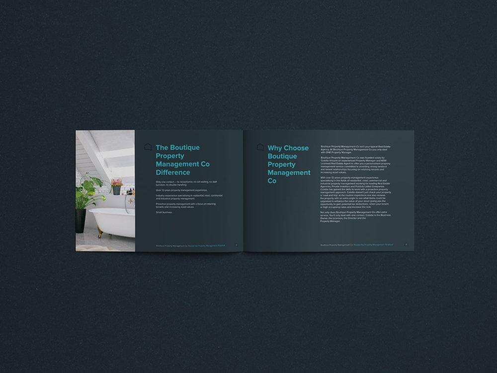 Boutique Property Management Co Business proposal document internals