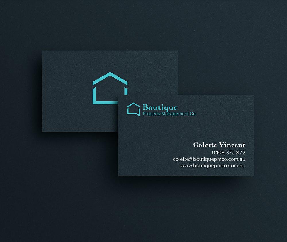 Boutique Property Management Co Business card design
