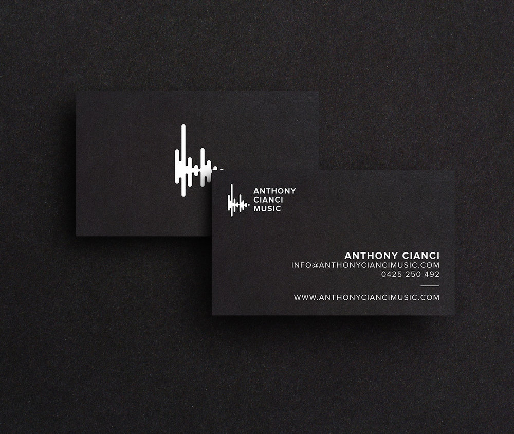 Anthony Cianci Music business card design.
