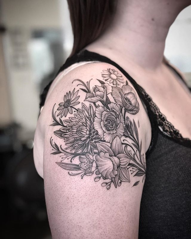 Got to add to this elephant! Family birth flowers.