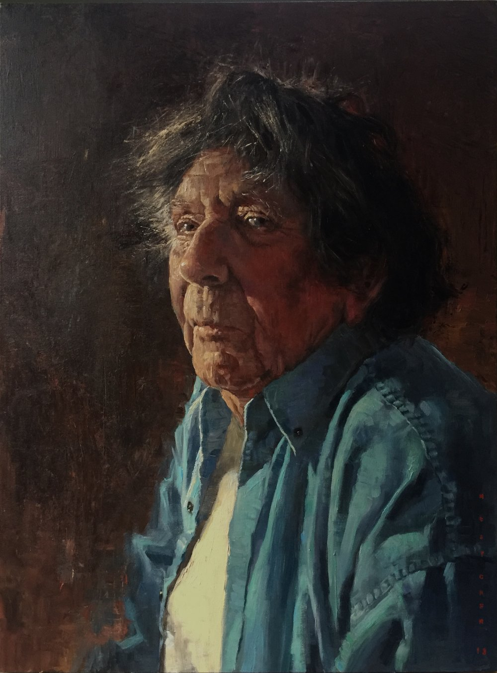 Portrait of artist Peter Fennell