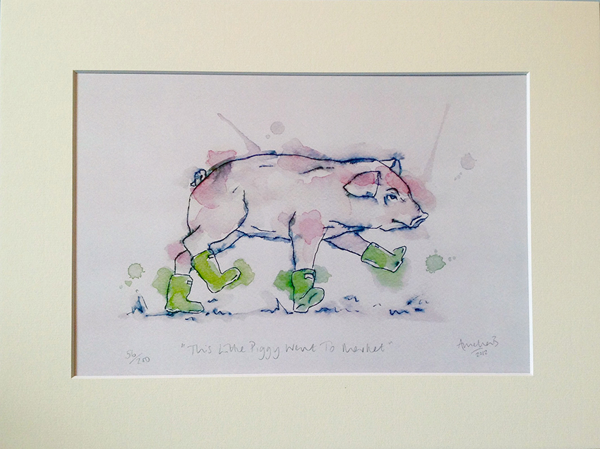 This Little Piggy Went to Market Print - £38.00