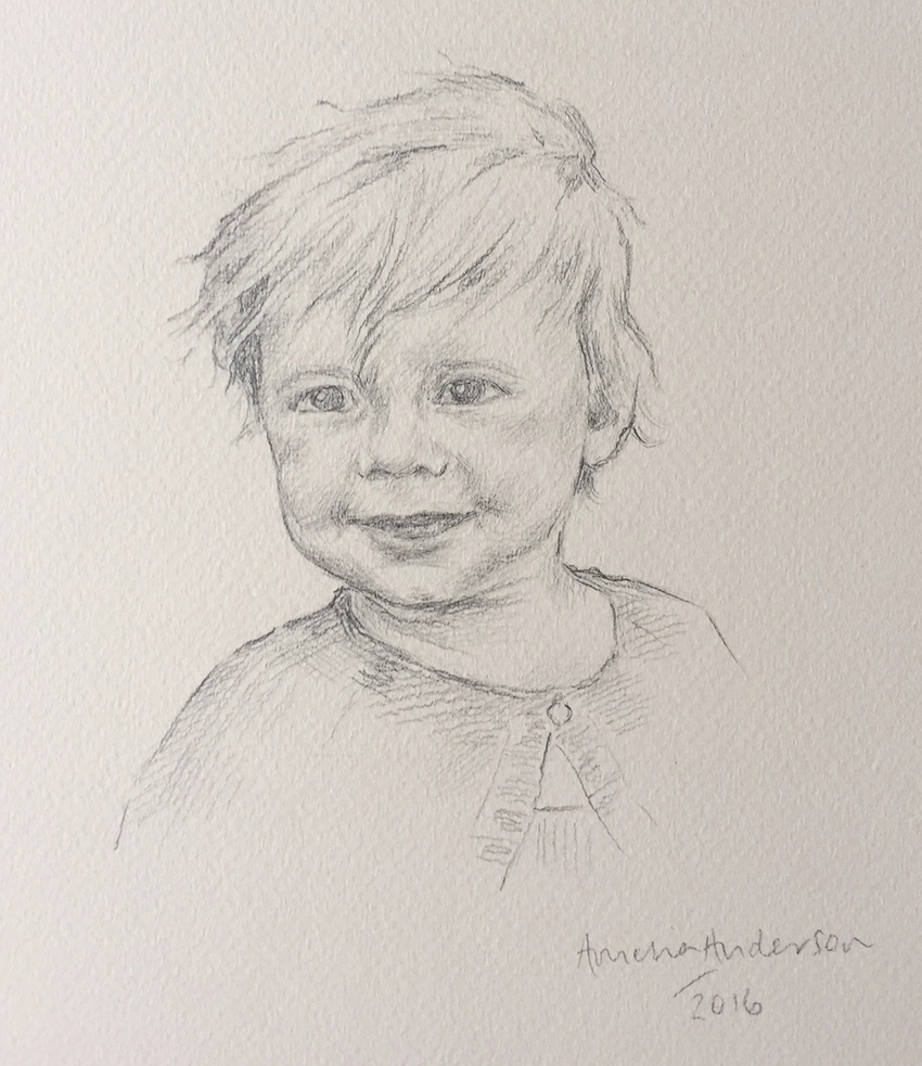'Albie' pencil and chalk on paper
