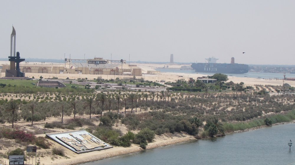 War memorial along the Suez Canal