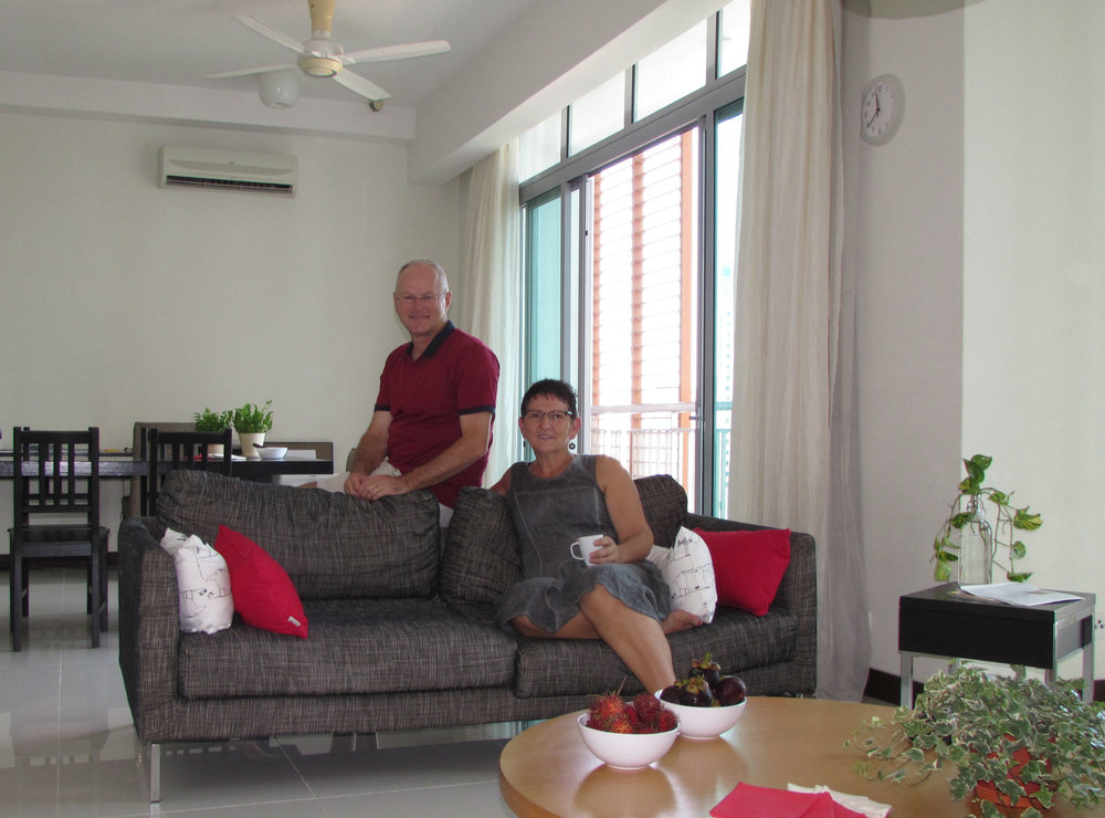 Francien and Frank in apartment in Kuala Lumpur