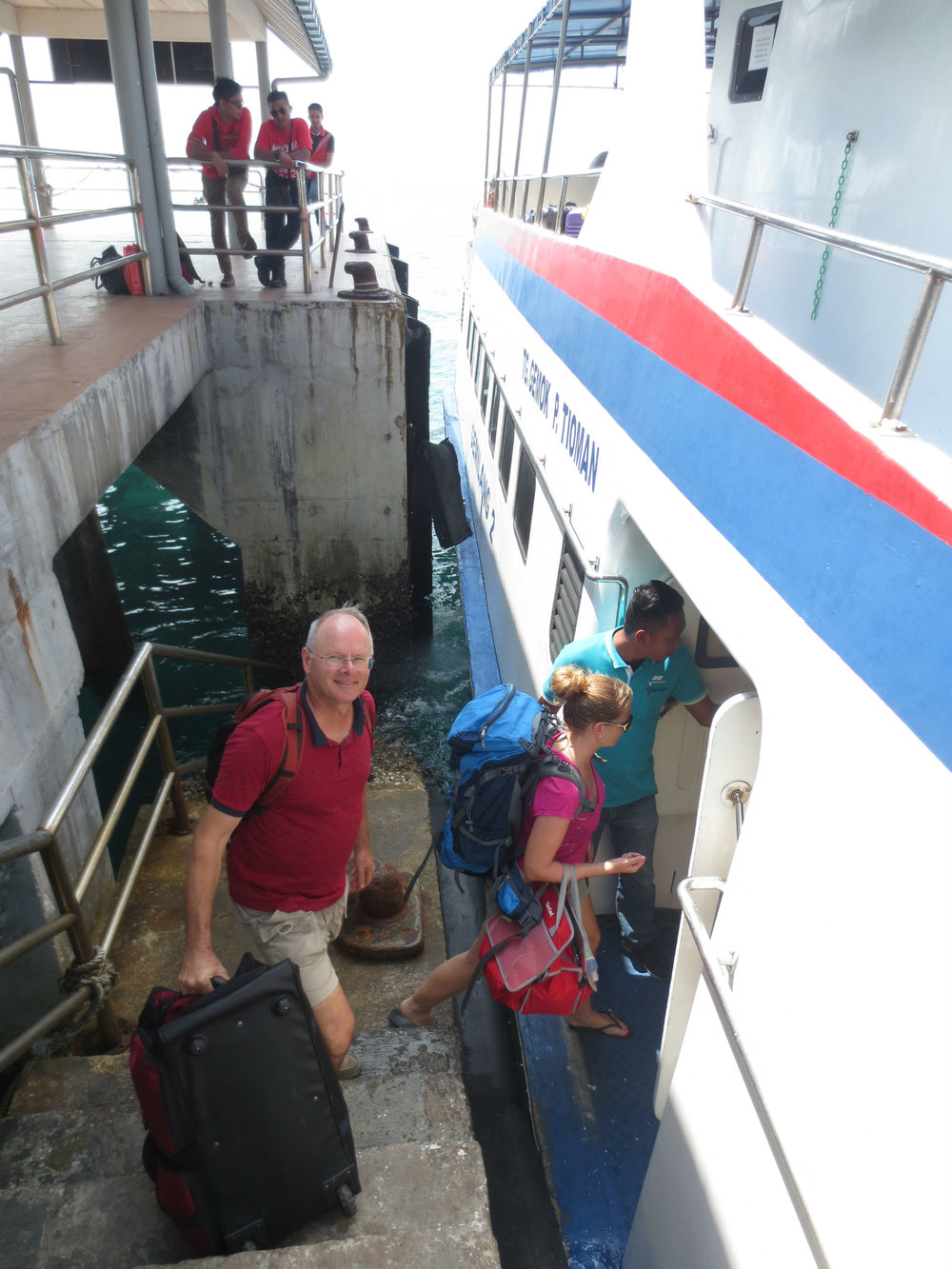 Ferry Gemok - Tioman Island in South China Sea