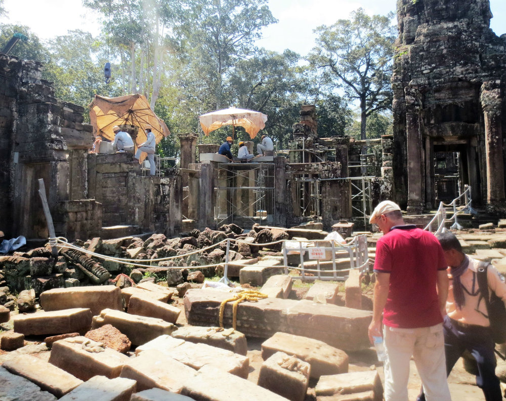 Restoration works at the temples