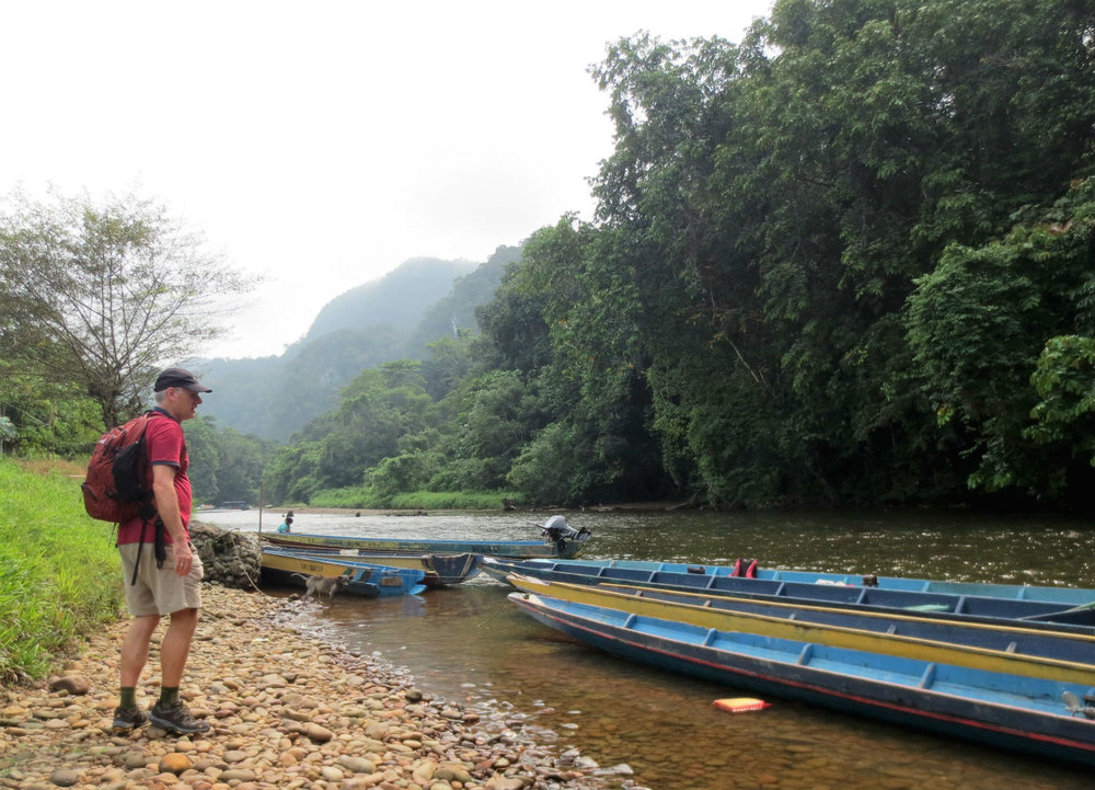 Longboats - main transportation in rainforest