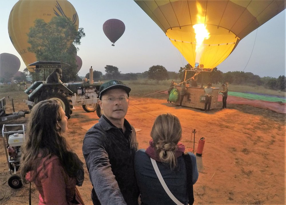 Hot-air Balloon Launching in Bagan