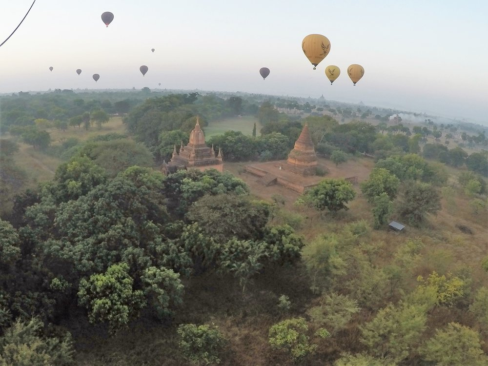 Ballooning above Bagan Temple City