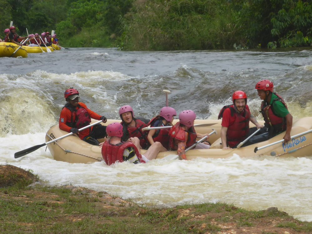 Rafting on Selangor River with Klaus and Irma