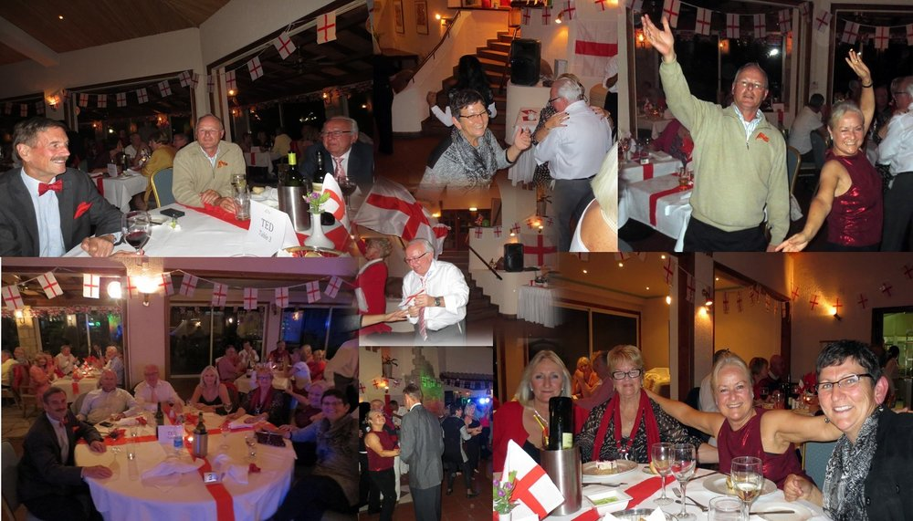 2015 St. George celebration with friends in the Kamares Club house in Paphos, Cyprus