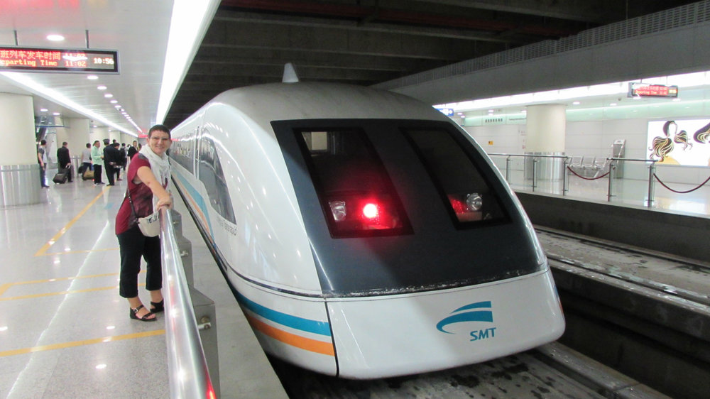 MAGLEV Train - the fastest train in the world (speed = 430 Km/hr)