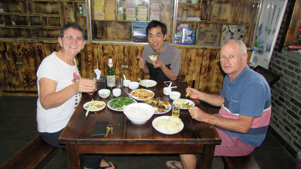 Dinner in the guest house with our guide Yaxin
