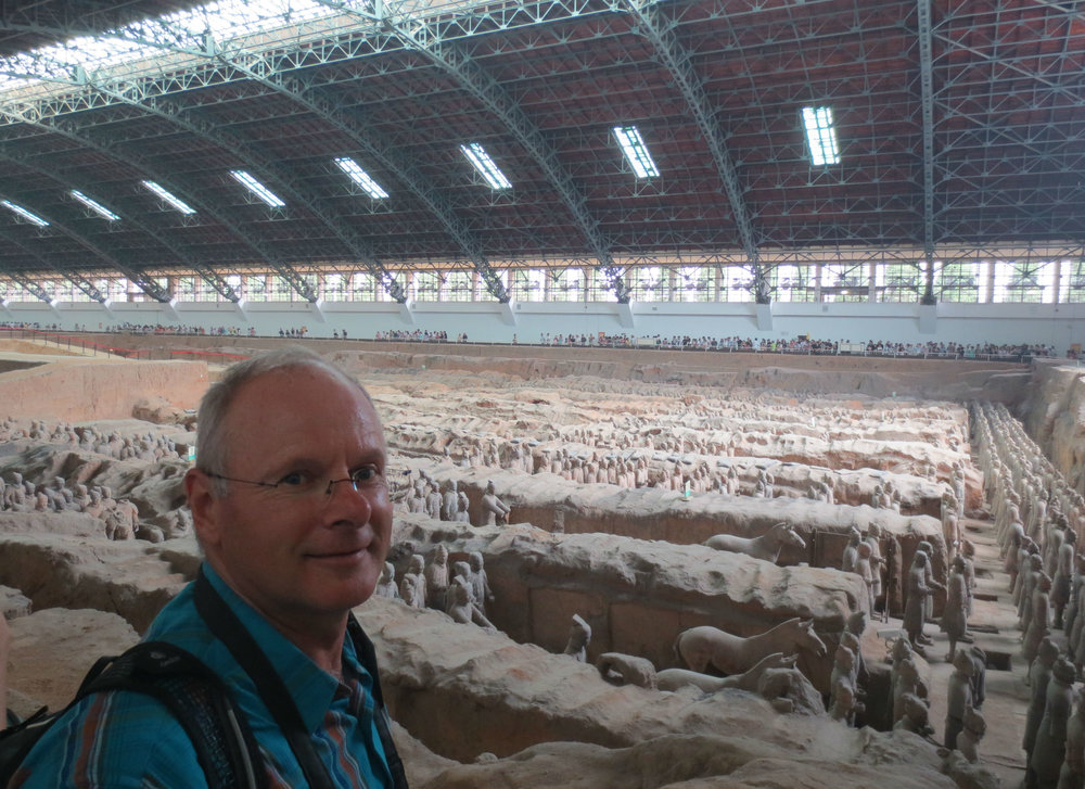 Inside Hall no: 1 at the Terracotta Soldiers world heritage site in Xi'an