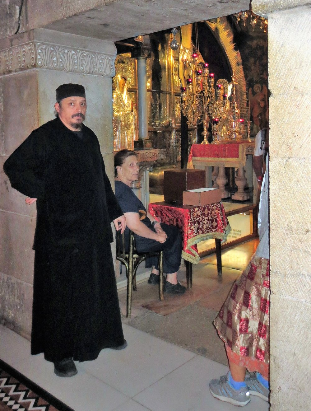 Armenian monk inside the Church of the Holy Sepulchre