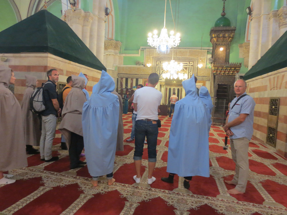 Ibrahimi Mosque with the tombs of Abraham and his family. Note: women needed to be fully covered.