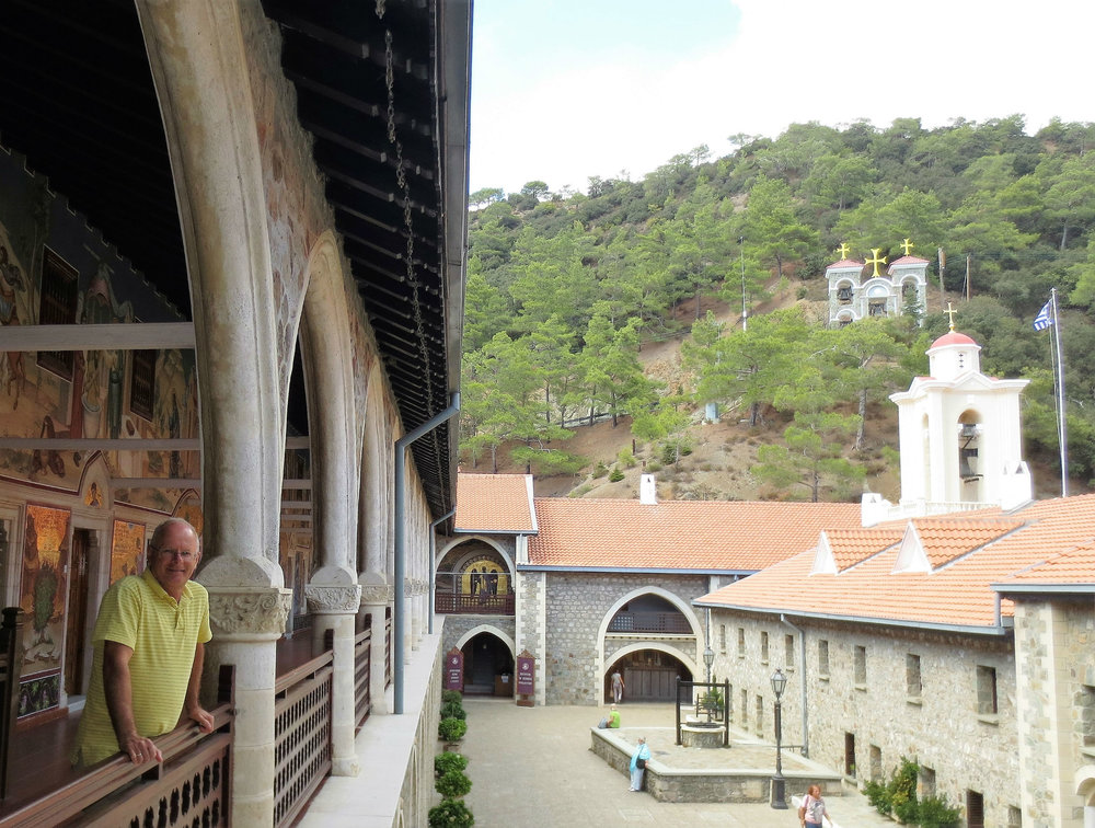 Kykkos monastery in-Troodos mountains. A major toursit attraction in Cyprus