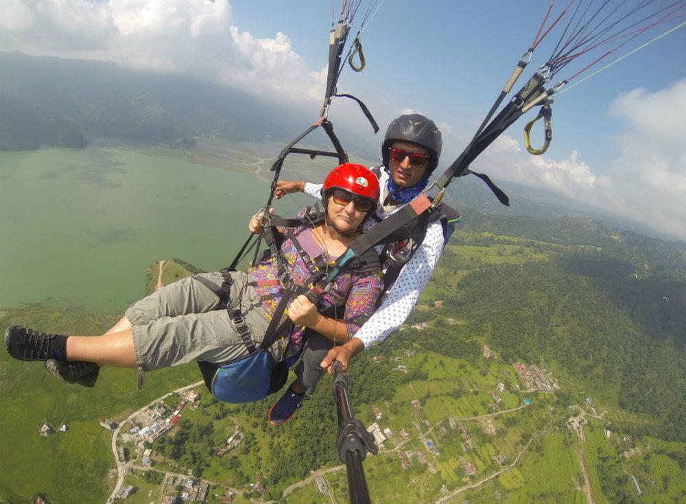 2014  Paragliding, Nepal