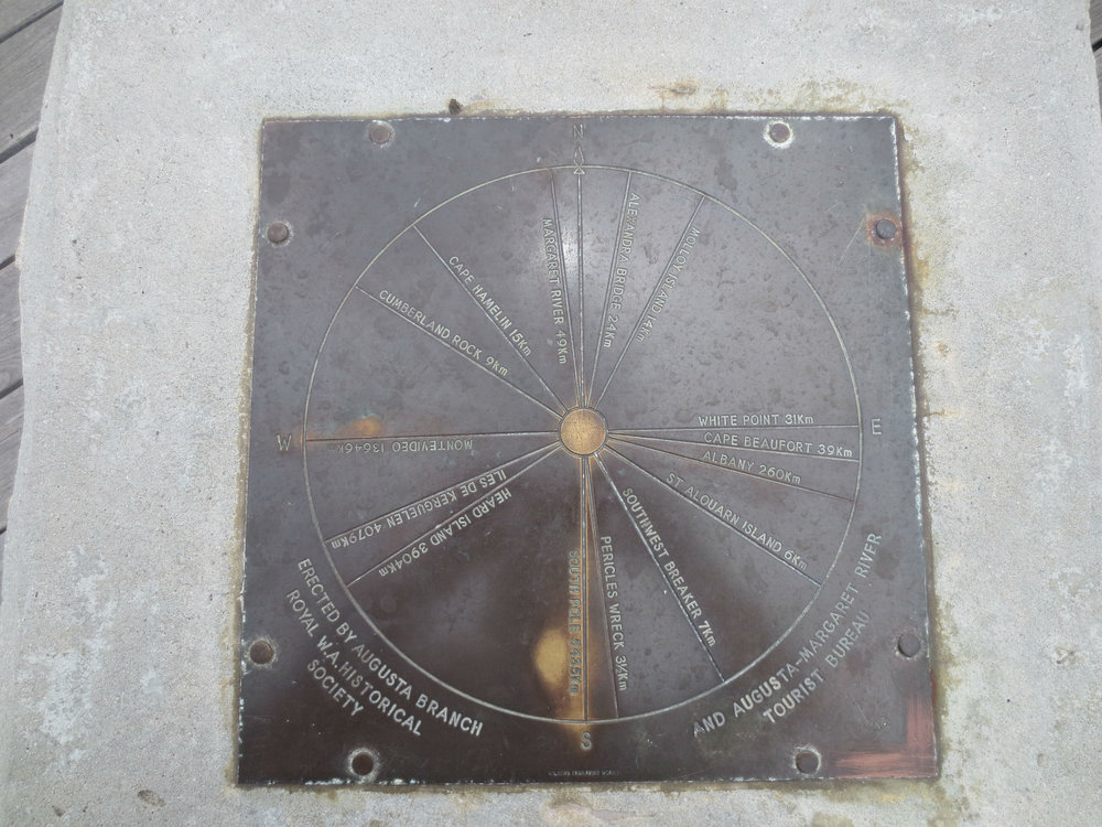 A plaque inside the lighthouse