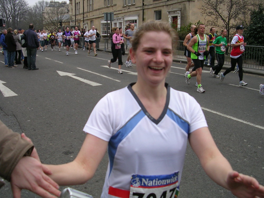 2007 Marcella running Bath half marathon in England