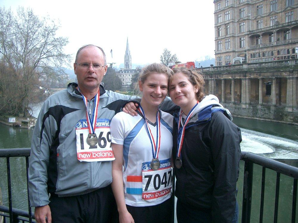 2007 Frank, Marcella & Winnie finished Bath half marathon