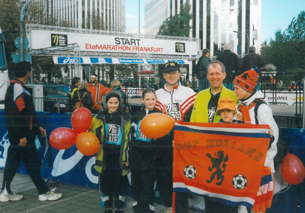 1998 Frankfurt Marathon finish