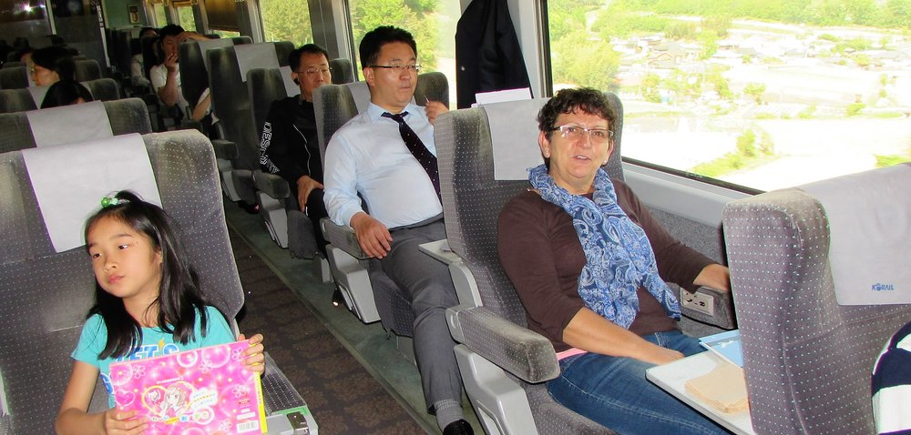 High-speed train from Seoul to Busan