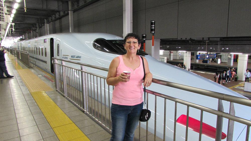 Taking the Shinkansen to Tokyo