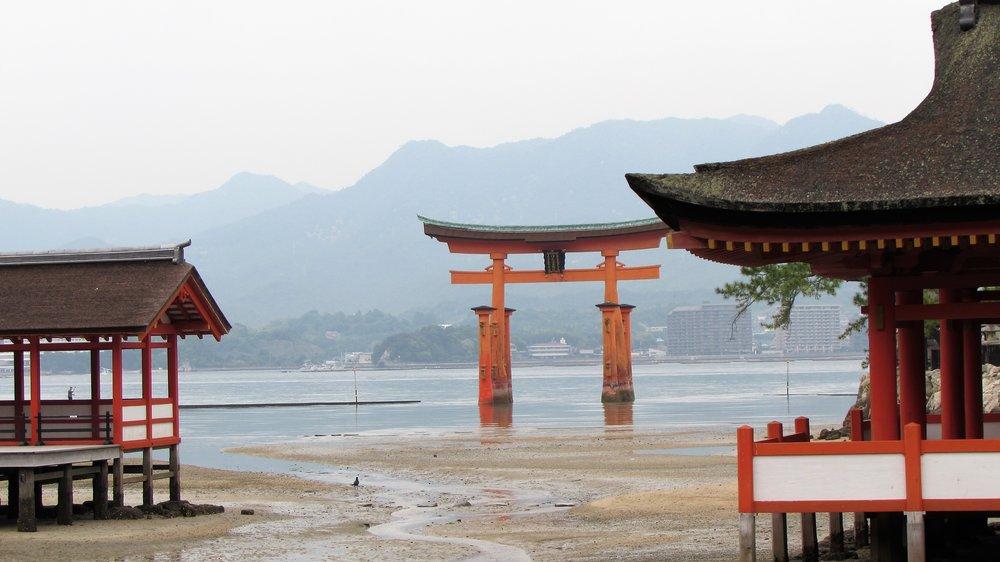 The Itsukushima Shrine outside Hiroshima