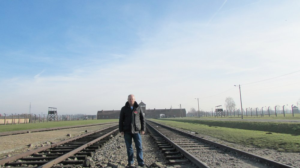 Rail tracks in Birkenau