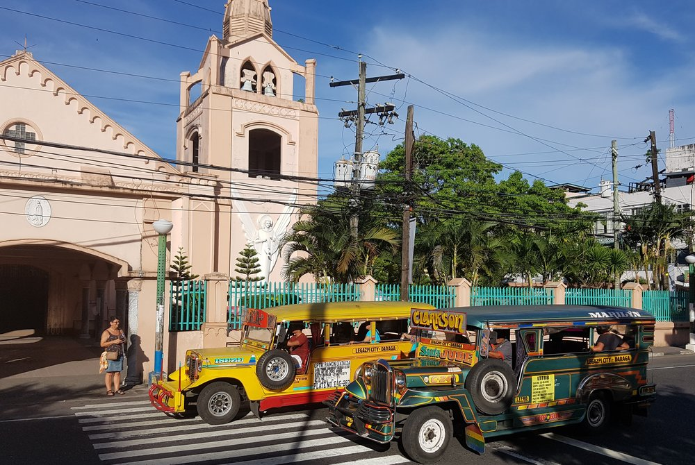 The colorful Jeepneys are an important means of transportation