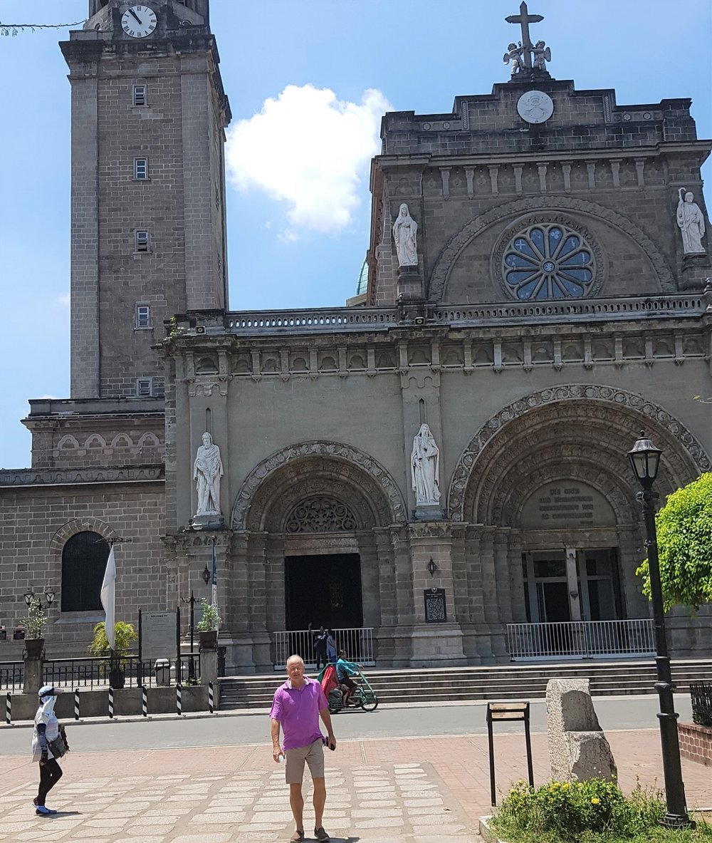 Metropolitan Cathedral in the middle of Intramuros