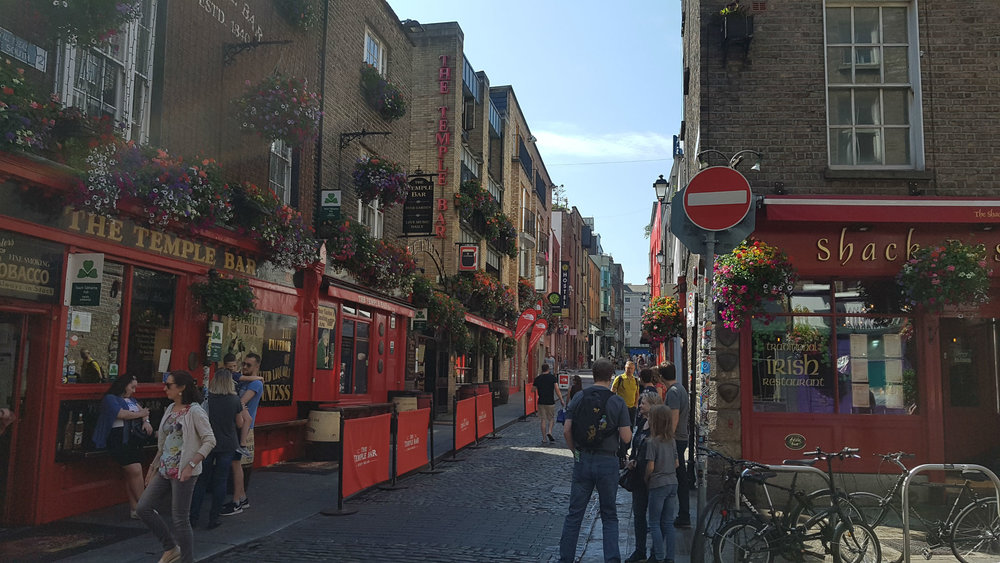 Temple Bar district in Dublin