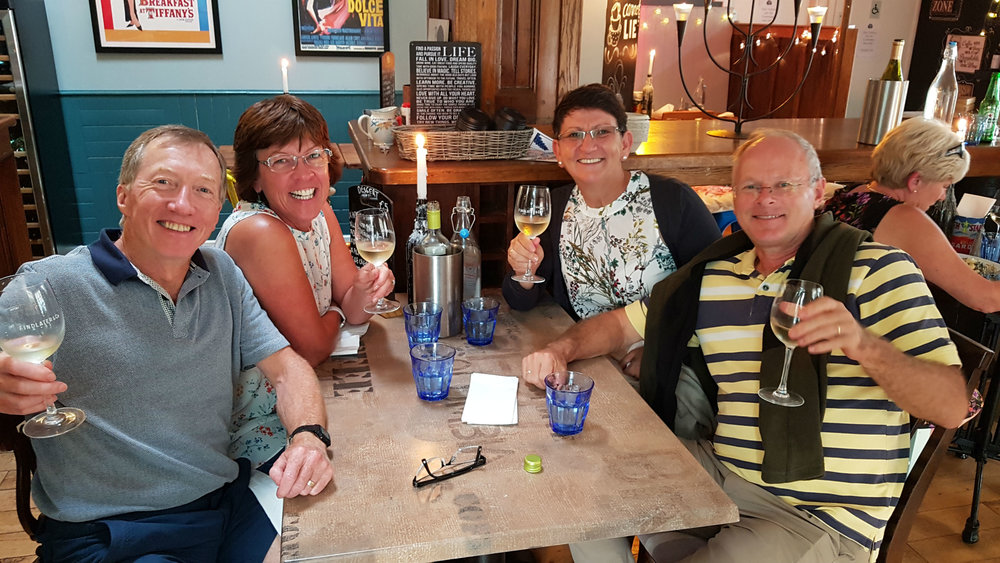 Meeting up with Jim and Linda after 37 years!