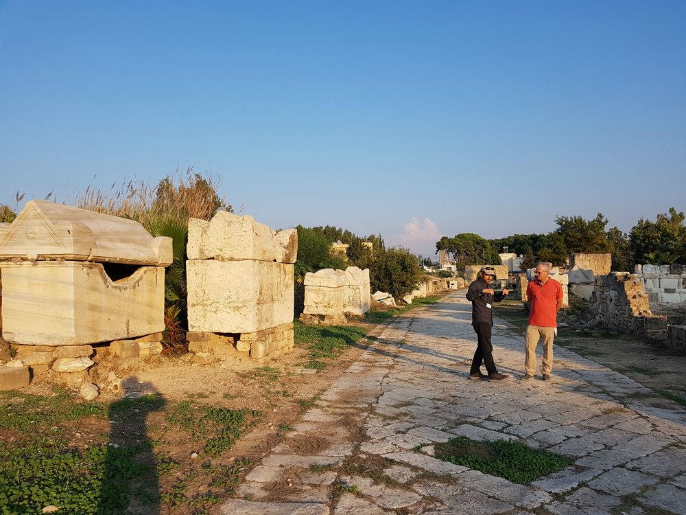 Hippodrome in Tyre; Byzantine sarcophaguses