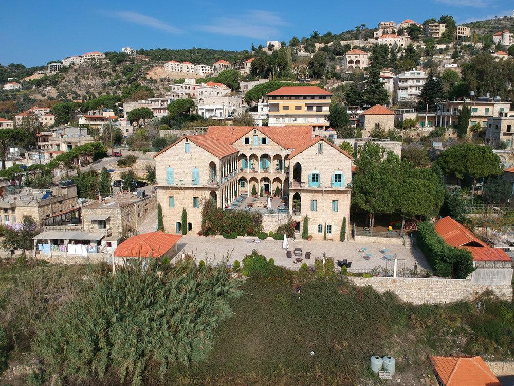 Beit el Qamar hotel overlooking the Chouf mountains