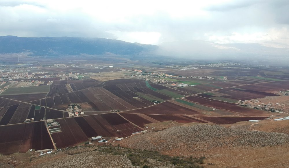 Rain clouds over the Beqaa Valley