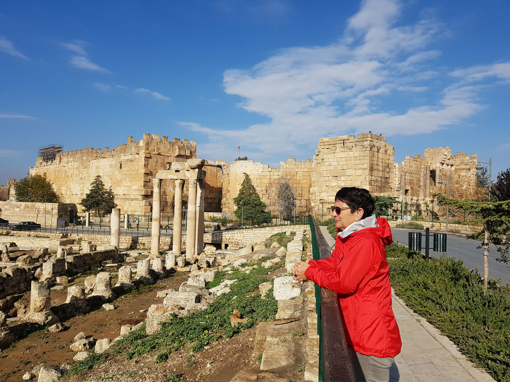 The entrance to the Baalbek Temples, a UNESCO World Heritage site
