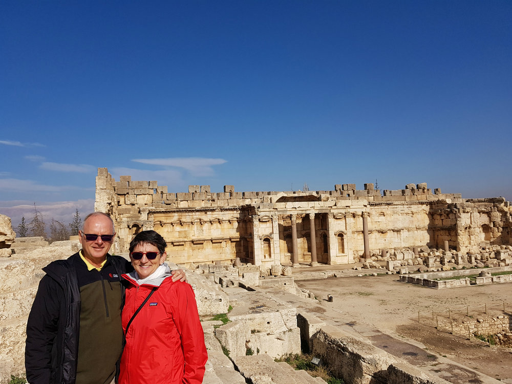 The Great Court of Baalbek Temples
