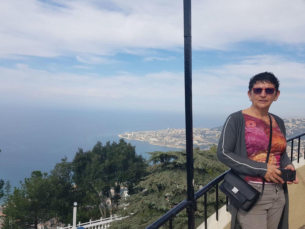 Overlooking the Mediterranean coast line north of Beirut